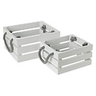 more details on Collection Set of 2 Bathroom Storage Crates - White.
