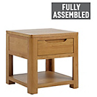 more details on Heart of House Weymouth 1 Drawer Lamp Table - Solid Wood.