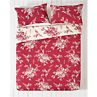 more details on Collection Lottie Red and Cream Bedding Set - Kingsize.
