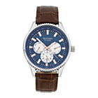 more details on Sekonda Men's Brown Strap Blue Dial Watch.