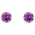 more details on 9ct Gold Amethyst Colour Cubic Zirconia Studs.