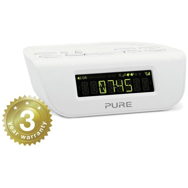 buy siesta mi series 2 radio alarm clock white at your online shop for clock. Black Bedroom Furniture Sets. Home Design Ideas