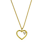 more details on Amelia Grace Open Heart Cubic Zirconia Necklace.