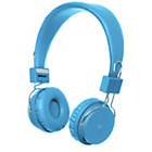 KitSound Manhattan Bluetooth On-Ear Headphones - Blue
