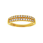 more details on 9ct Gold Plated Silver Cubic Zirconia Double Row Ring.