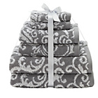 more details on HOME Damask 6 Piece Towel Bale - Grey.