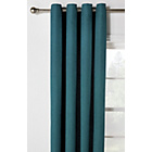 more details on Heart of House Hudson Lined Eyelet Curtains -168x183- Teal.