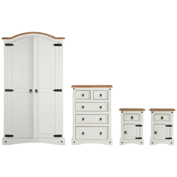 Buy Collection Puerto Rico 4 Piece Bedroom Package White Pine At Your Online