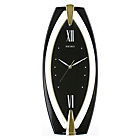 more details on Seiko Black Plastic Wall Clock Black Dial.