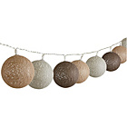 more details on HOME Cotton String Ball Lights - Set of 20.