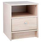 more details on HOME New Malibu 1 Drawer Bedside Chest - Beech Effect.