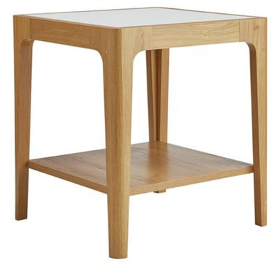 Buy home sasha end table white at your for Sofa table argos
