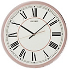 more details on Seiko Large Rose Gold Colour Plastic Wall Clock.