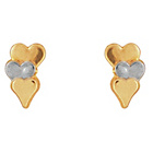 more details on 9ct Gold Two Tone Heart Studs.