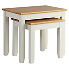 more details on Collection Fairbourne Nest of Two Tables - White.