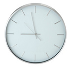 more details on Collection Mina Metal Wall Clock - Silver and White.