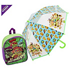 more details on Turtles Backpack and Umbrella.