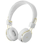 KitSound Manhattan Bluetooth On-Ear Headphones - White Gold