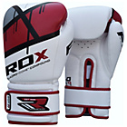 more details on RDX Synthetic 12oz Leather Boxing Gloves - Red