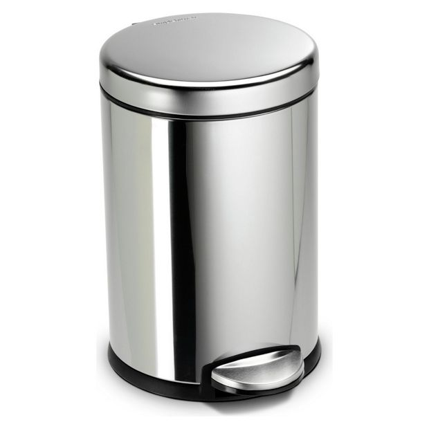 Buy Simplehuman 4 5 Litre Pedal Bin Polished Stainless Steel At Your Online Shop