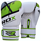 more details on RDX Synthetic 14oz Leather Boxing Gloves - Green