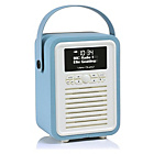 more details on VQ Retro Mini DAB Radio - Blue.