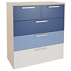 more details on Billie 3 + 2 Drawer Chest - Blue.