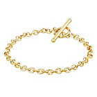 more details on 9ct Gold Oval Belcher T-Bar Bracelet