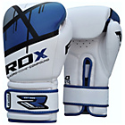 more details on RDX Synthetic 12oz Leather Boxing Gloves - Blue