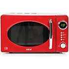 more details on Akai A24006R Standard Microwave - Red.
