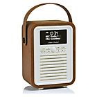 more details on VQ Retro Mini DAB Radio - Brown.