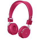 more details on KitSound Manhattan Bluetooth On-Ear Headphones - Pink.