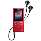 more details on Sony NW-E394 Walkman 8GB MP3 Player - Red.