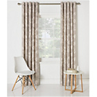 more details on HOME Cow Parsley Unlined Eyelet Curtains-117x183cm - Natural