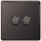 more details on Masterplug 2 Gang 2 Way Dimmer Switch - Black Nickel.