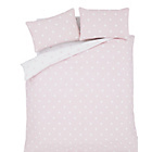 more details on Catherine Lansfield Pink Polka Brushed Duvet Set - Single.