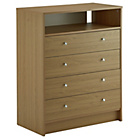 more details on New Malibu Media Chest of Drawers - Oak.