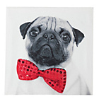 more details on Collection Pug with Bow Tie Canvas.