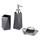 more details on Collection Bathroom Accessory Set - Black Glitter.
