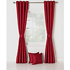 more details on Collection Ella Faux Silk Lined Curtains Set -229x229cm- Red