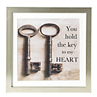 more details on Collection Key To My Heart Framed Print.
