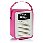 more details on VQ Retro Mini DAB Radio - Pink.