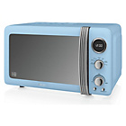 more details on Swan SM22030BLN Standard Microwave - Blue.