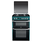more details on Indesit ID60G2N Gas Cooker with Double Oven - Blue.
