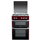more details on Indesit ID60G2R Gas Cooker with Double Oven - Red.