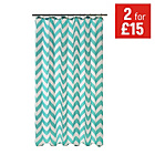 more details on HOME Chevron Shower Curtain - Aqua.