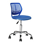 more details on Mesh Gas Lift Height Adjustable Office Chair - Blue.