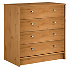 more details on HOME New Malibu 4 Drawer Wide Chest - Pine Effect.
