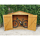 more details on Forest Larchlap Wooden Bike Store - 7 x 3ft.