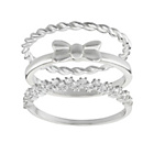 more details on Virtue Sterling Silver Ring - Set of 3.